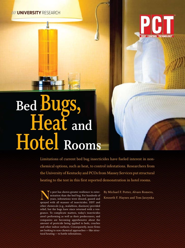 Bed Bugs Heat and Hotel Rooms