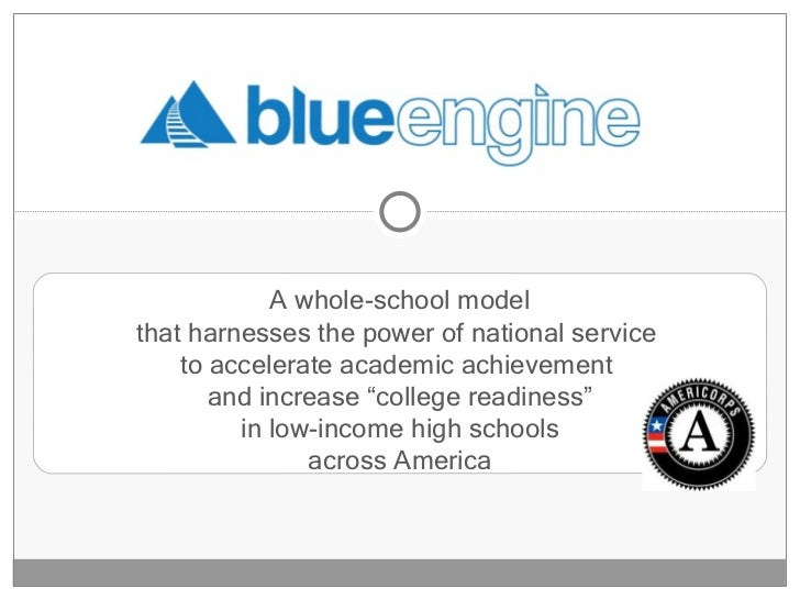 "A whole-school model that harnesses the power of national service  to accelerate academic achievement  and increase ""colle..."
