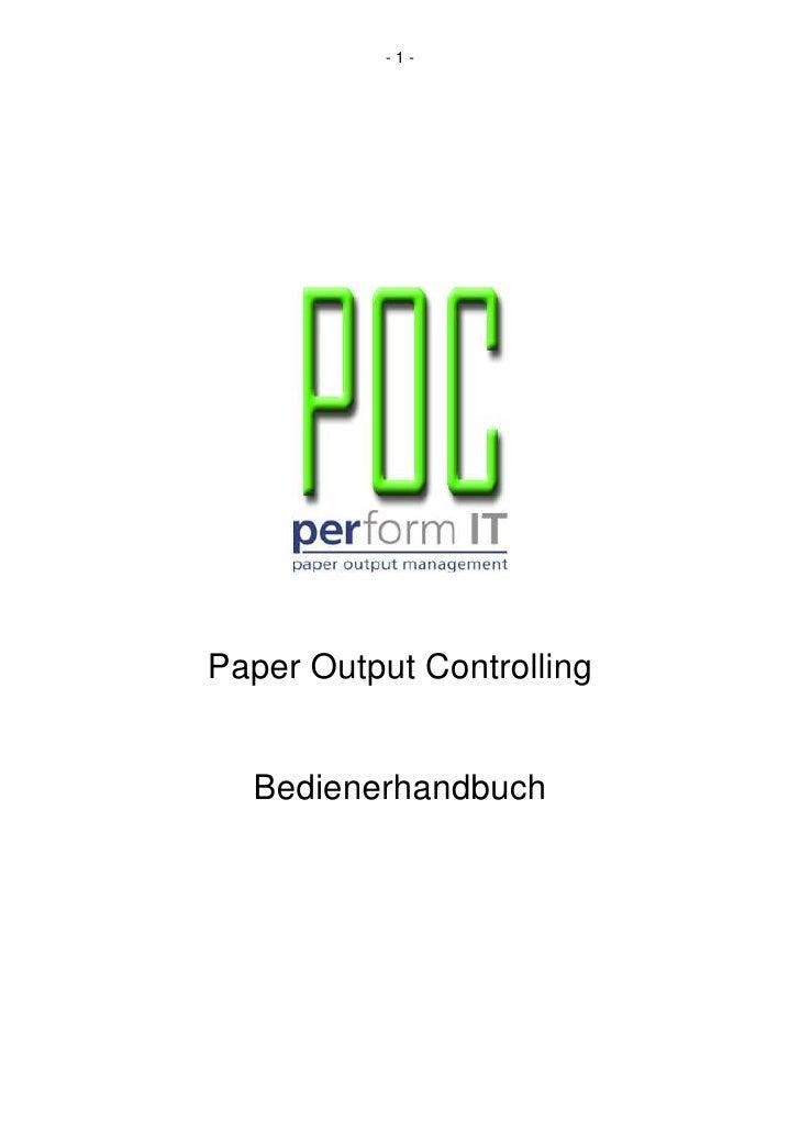 -1-     Paper Output Controlling     Bedienerhandbuch