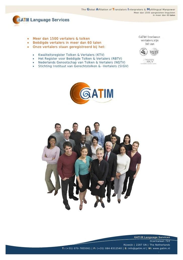 Beëdigde Vertalingen bij GATIM Language Services Vertaalbureau