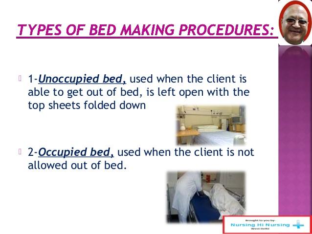 steps of bed making in nursing 1