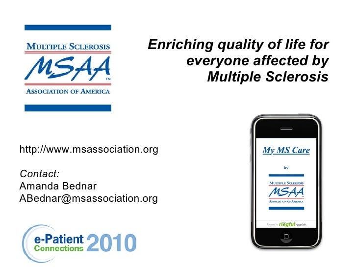 Mobile Health for Multiple Sclerosis