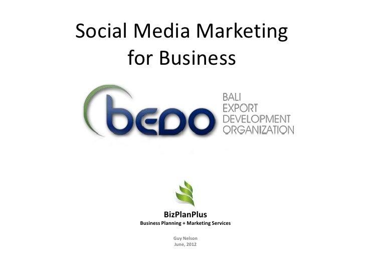 BEDO Social Media Marketing for Business