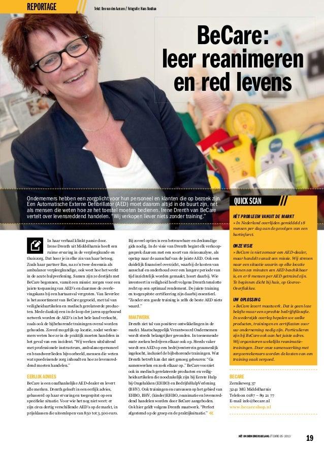 Bedrijfsreportage becare ondernemersbelang ondernemersbelang zuid hollandse eilanden hoeksche waard december 2013