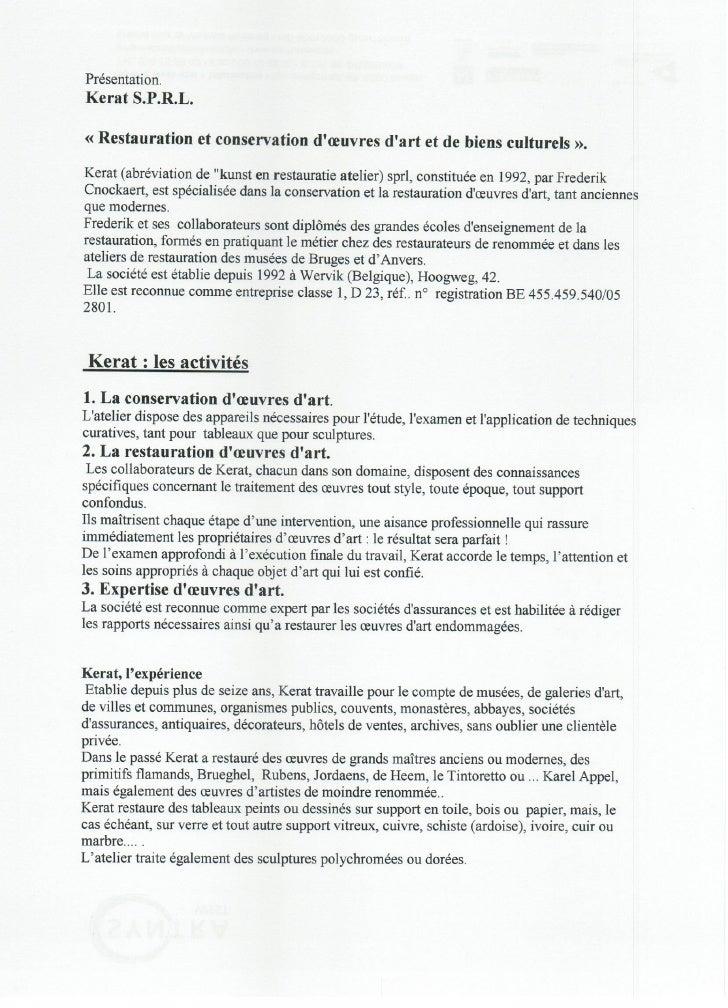 Bedrijfsvoorstelling in frans kerat