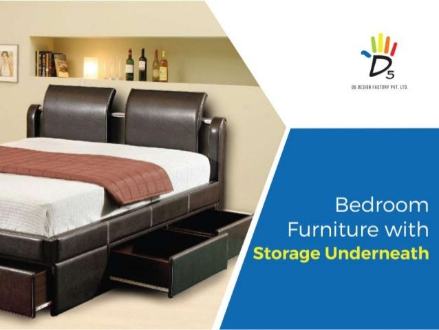 Bedroom furniture with storage underneath