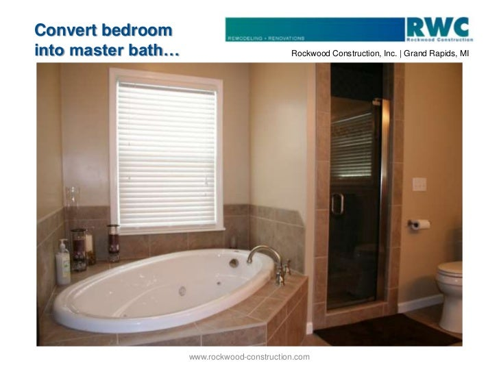 Convert bedroom into master bath bath remodel grand for Bath remodel wyoming mi