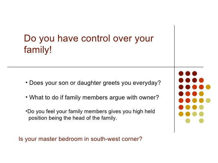 do you have control over your family does your son or daughter greets