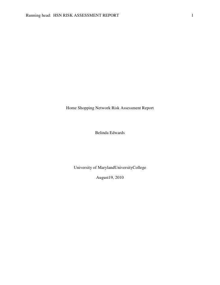 HSN Risk Assessment Report