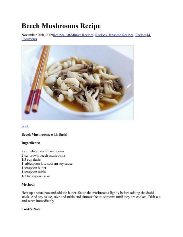 Beech Mushrooms Recipe November 20th, 2009Recipes, 30-Minute Recipes, Recipes, Japanese Recipes, Recipes14 Comments  print...