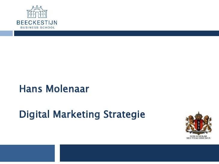 Hans Molenaar  Digital Marketing Strategie