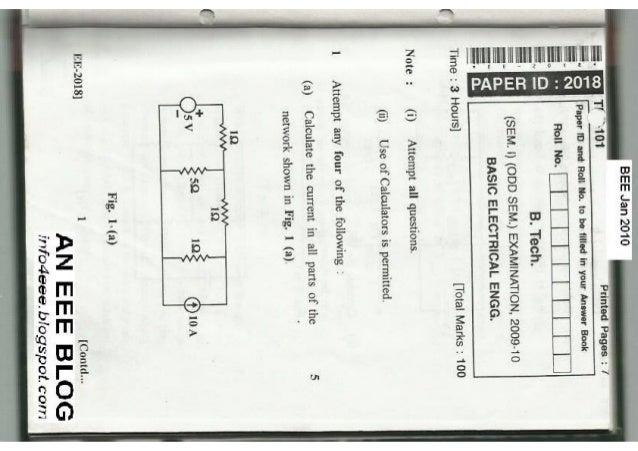 Basic Electrical Engineering Jan 2010