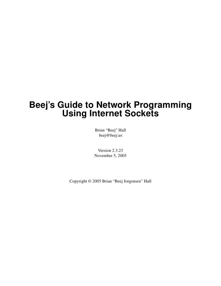 Beej Guide Network Programming