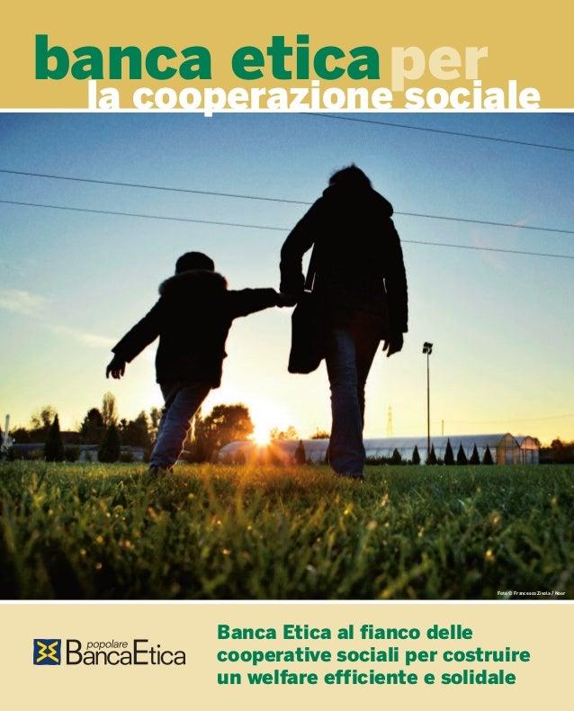 Banca Etica per la cooperazione sociale