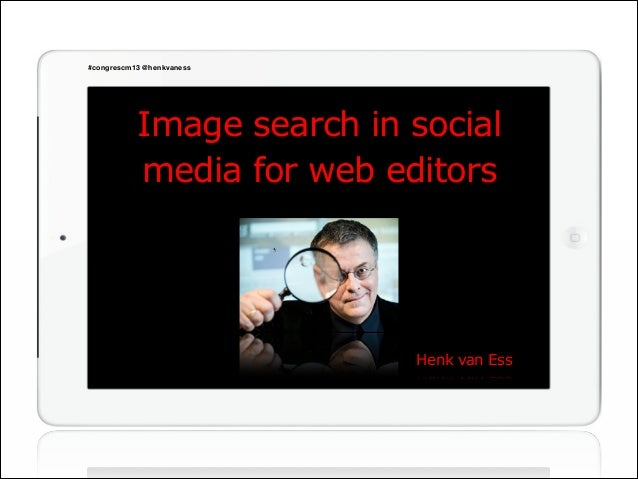 Finding images in social media - for web editors