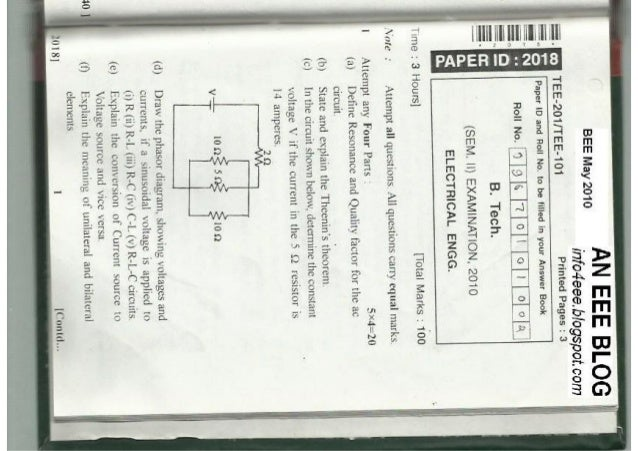Basic Electrical Engineering May 2010