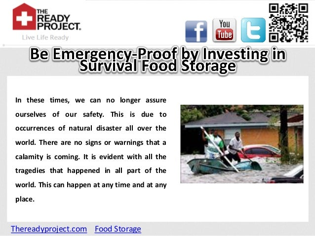Be emergency proof by investing in survival food storage