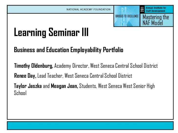 Business and Education Employability Portfolio