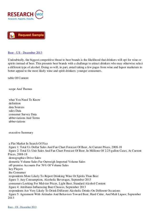 Beer - US - December 2013:Latest Industry Size Research Report