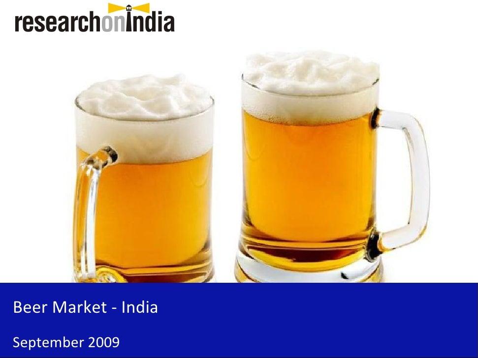 Beer Market - India September 2009