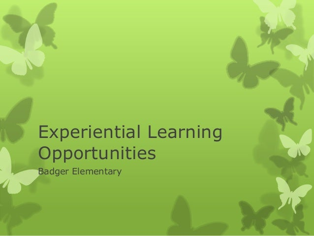 BE Experiential Learning Opportunities