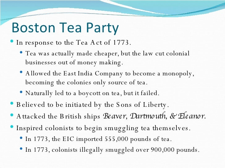 the boston tea party 2 essay
