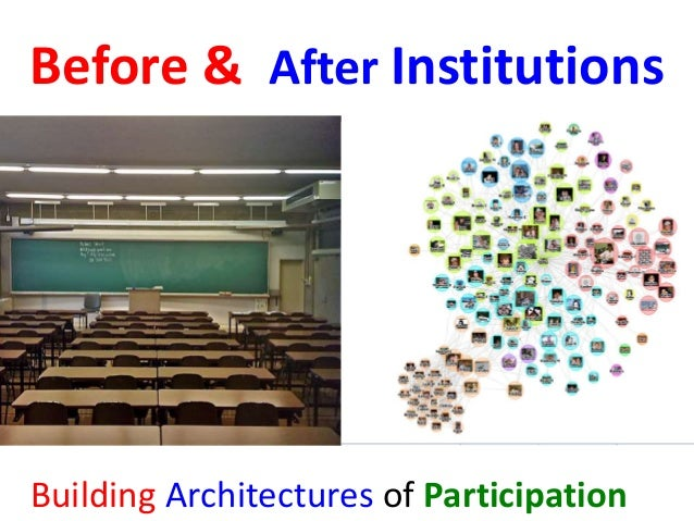 Before & After Institutions  Building Architectures of Participation