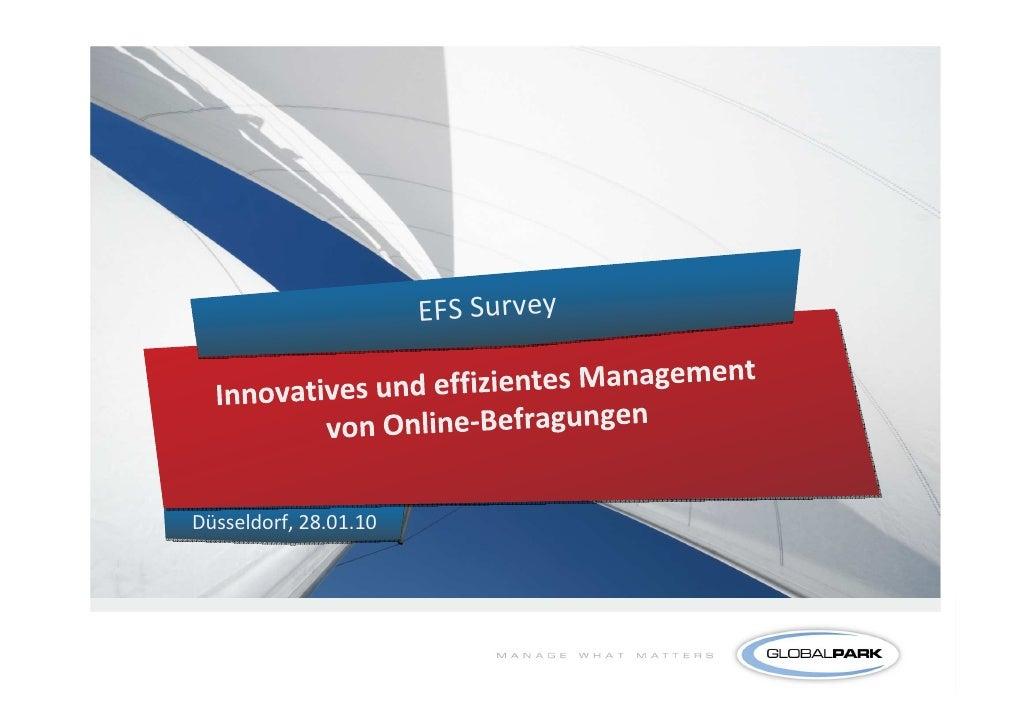 EFS Survey     Düsseldorf, 28.01.10