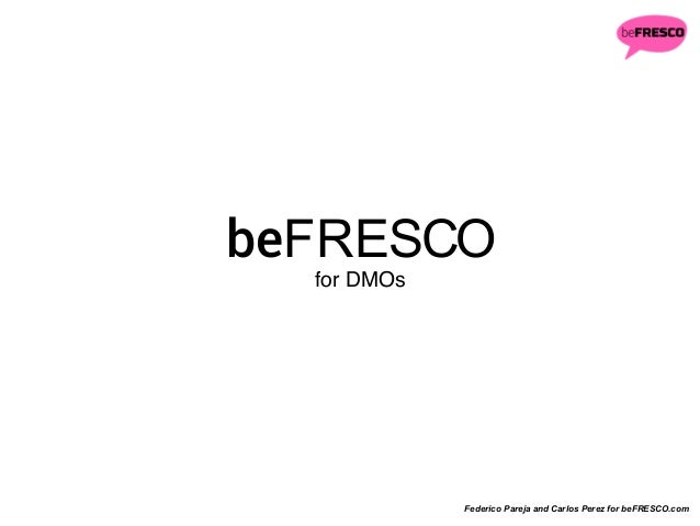 beFRESCO strategies for DMOs