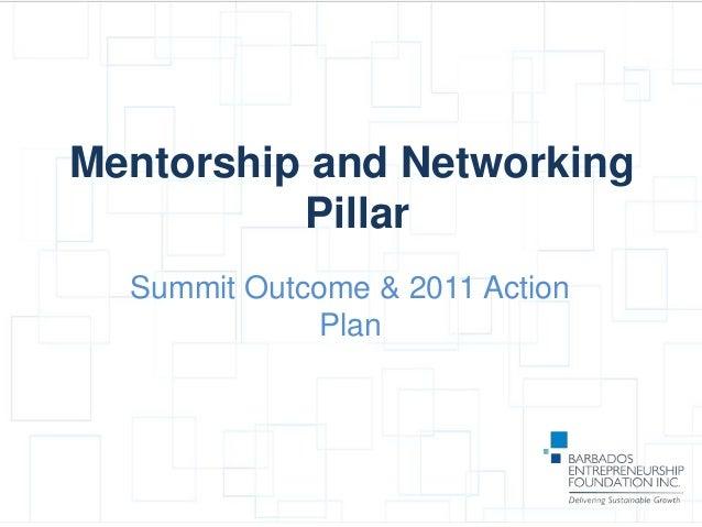 Pillar Presentation - Mentorship & Networks
