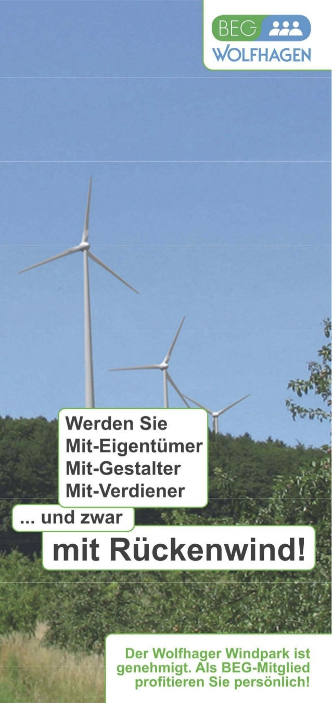 Beg Wolfhagen Energiegenossenschaft Mitglied werden