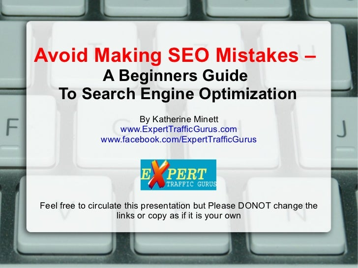 Avoid These SEO Mistakes- Beginners guide to search engine optimization