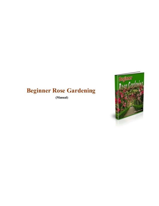 Beginnerrose gardening