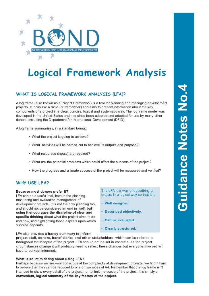 Logical Framework Analysis                                                                                                ...