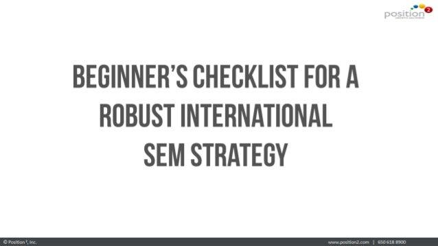 Beginner's Checklist For Robust International SEM Strategy