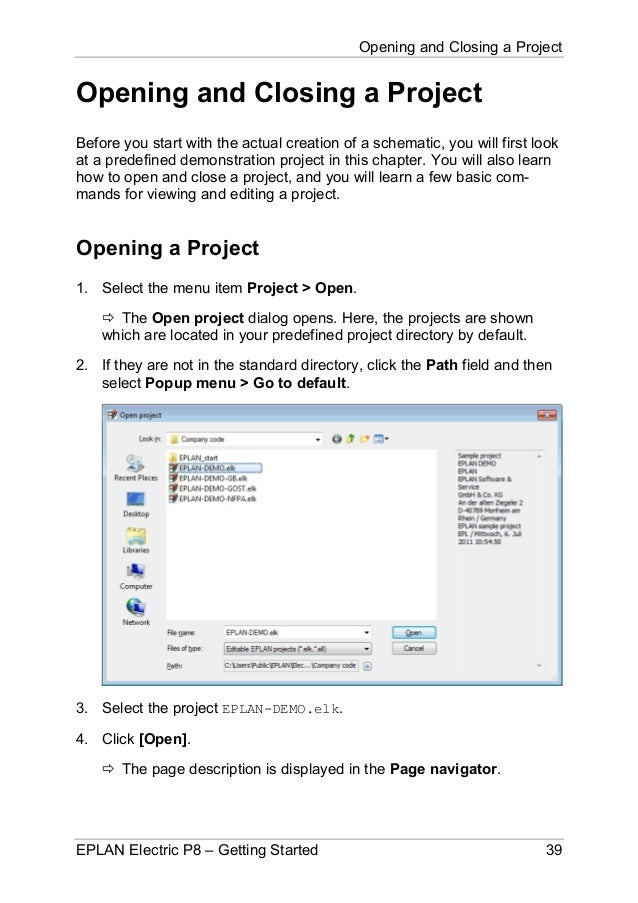 Opening and Closing a Project