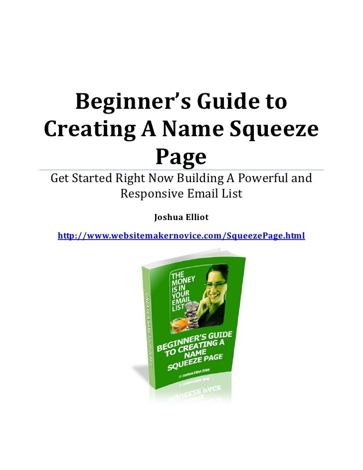 Learn How To Build A Simple Squeeze Page