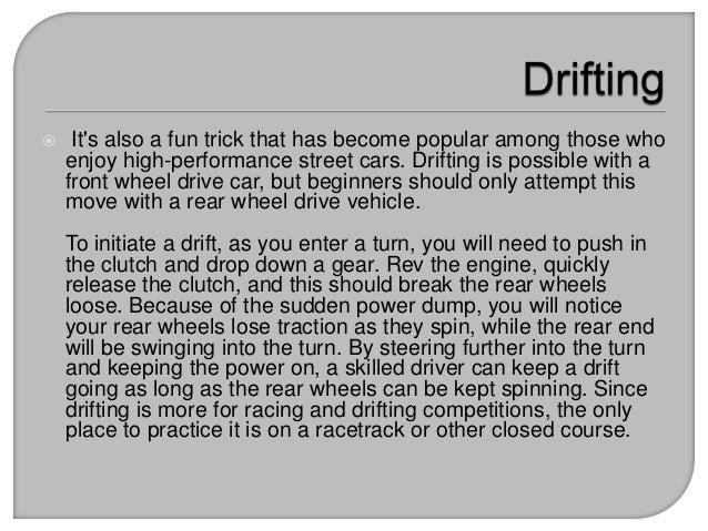 Drifting tips for Driften betekenis
