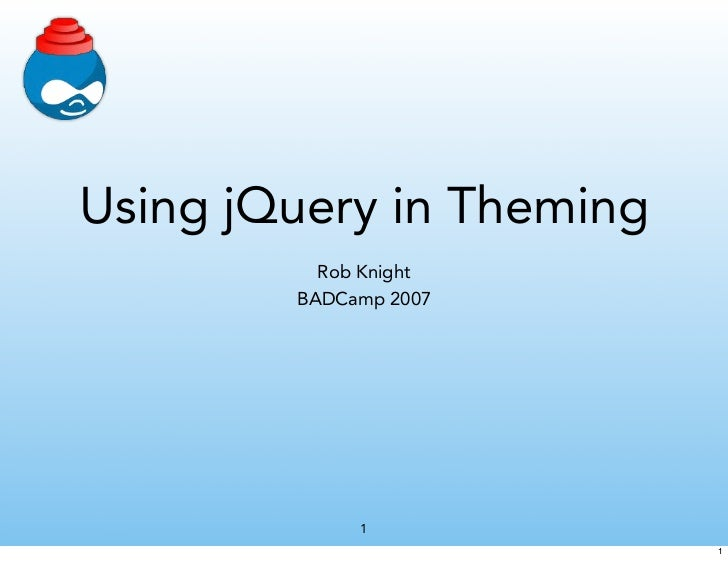 Beginning Jquery In Drupal Theming
