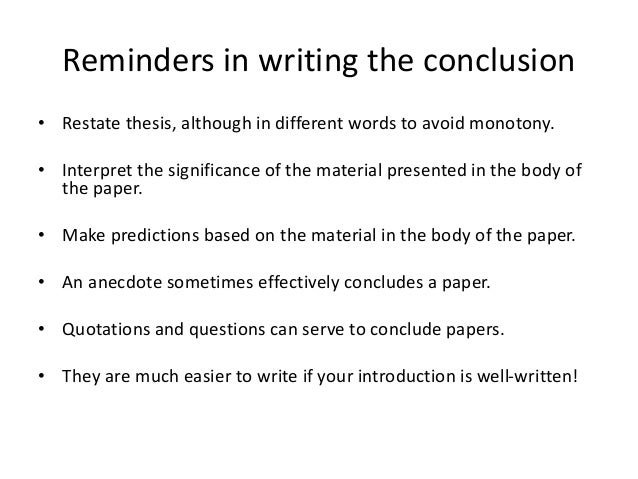 How to avoid fallacies in a thesis statement