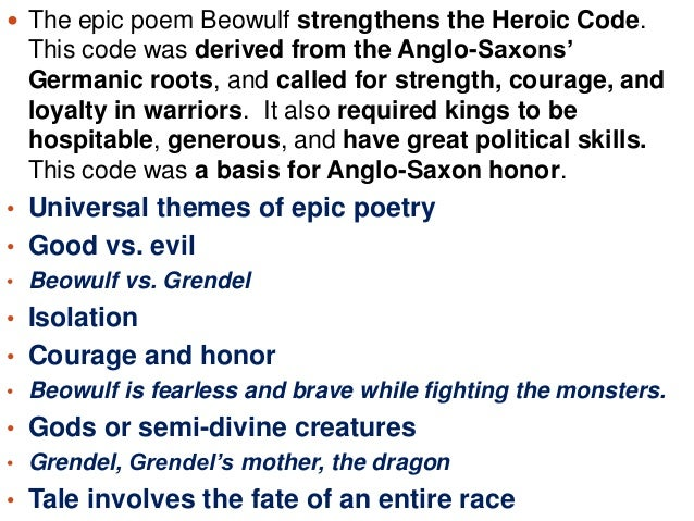the evil of grendel in the epic poem beowulf Beowulf good vs evil the epic poem beowulf is an example of this because the hero of the story has an ongoing conflict with the evil villain, grendel in beowulf.