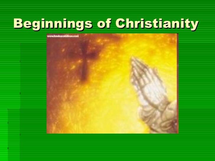 Beginnings of Christianity