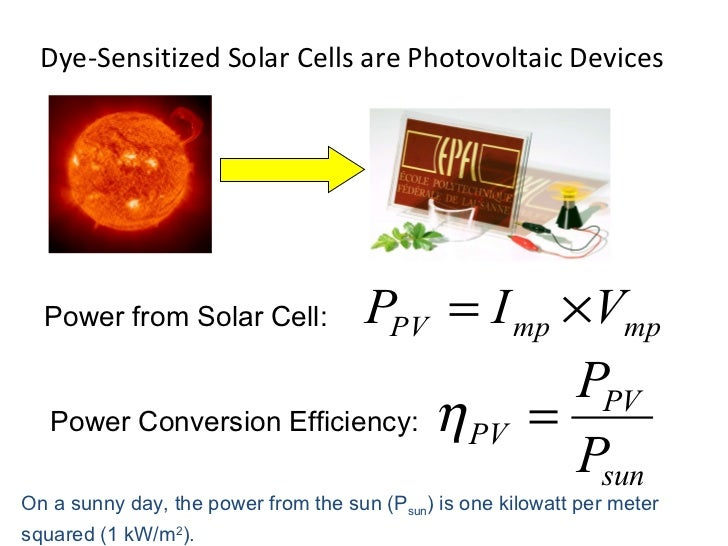 dye sensitised solar cell thesis Solar cells based on dye-sensitized nanocrystalline tio2 electrodes kay, andreas grätzel, michael this thesis presents a new type of photovoltaic solar cell based on dye-sensitized nanocrystalline titanium dioxide electrodes.