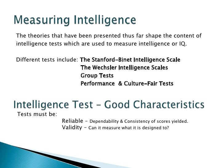 Measure of Intellegence?