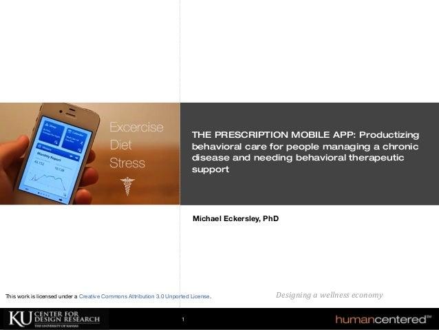 The Prescription Mobile App For Chronic Disease Management