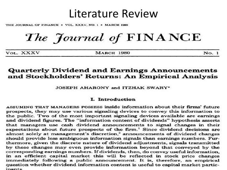 Corporate insider trading a literature review