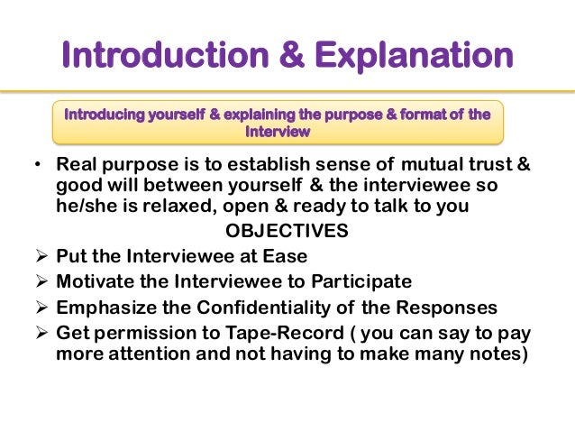 essay introduce yourself interview