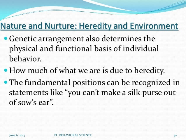 Position on relative importance of heredity and environment on personal and social development?