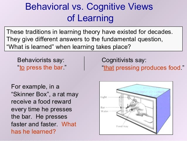 comparing behaviorism and cognitive psychology