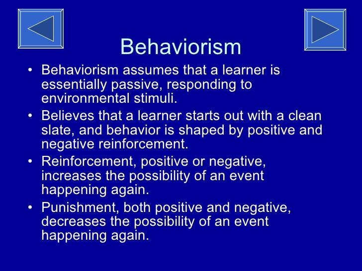 behaviorist theory in education essay